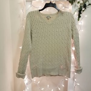 St John's bay cream cable knit sweater large